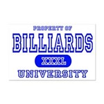 Billiards University Mini Poster Print