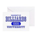 Billiards University Greeting Cards (Pk of 10)