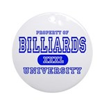 Billiards University Ornament (Round)