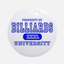 Billiards University Ornament (Round)