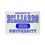 Billiards University Rectangle Magnet