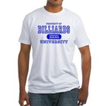 Billiards University Fitted T-Shirt
