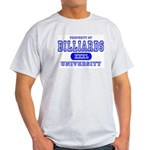 Billiards University Ash Grey T-Shirt