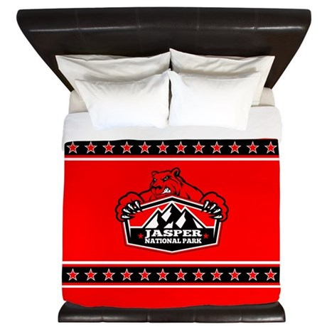 Jasper Red Bear King Duvet