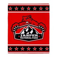 Jasper Red Bear Throw Blanket