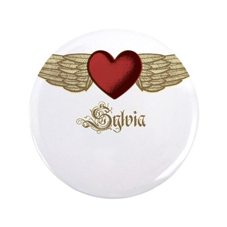 """Sylvia the Angel 3.5"""" Button (100 pack)"""
