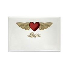 Sylvia the Angel Rectangle Magnet