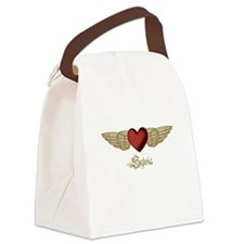 Sylvia the Angel Canvas Lunch Bag