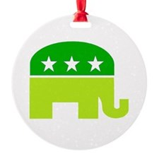 saint patricks dayt elephant Ornament