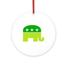 saint patricks dayt elephant Ornament (Round)