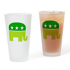 saint patricks dayt elephant Drinking Glass