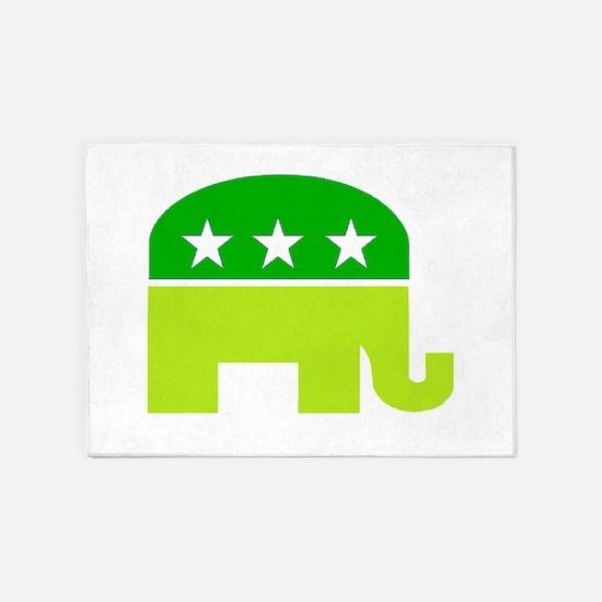 saint patricks dayt elephant 5'x7'Area Rug