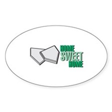 """""""Home Sweet Home"""" Home Plate Oval Decal"""