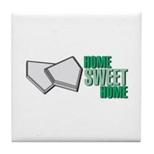 """Home Sweet Home"" Home Plate Tile Coaster"