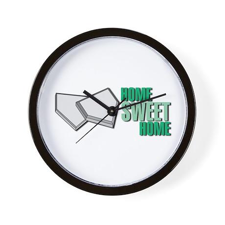 """Home Sweet Home"" Home Plate Wall Clock"