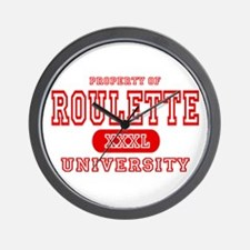 Roulette University Wall Clock