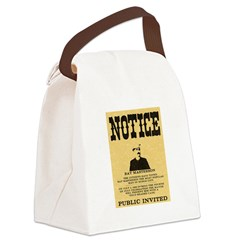 Bat Masterson Canvas Lunch Bag