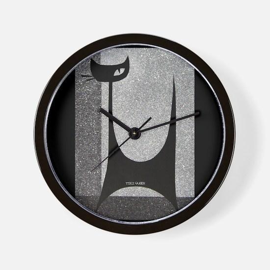 Retro Mid Century Jazz Cat Wall Clock