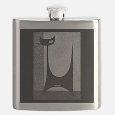 Retro Mid Century Jazz Cat Flask
