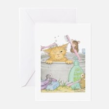 Mice Co Cat Wash Greeting Cards (Pk of 20)