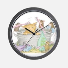 Mice Co Cat Wash Wall Clock
