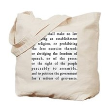 First Amendment Freedom of Speech Tote Bag
