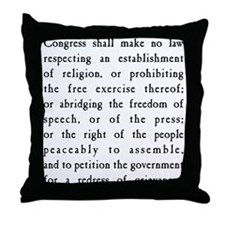 First Amendment Freedom of Speech Throw Pillow