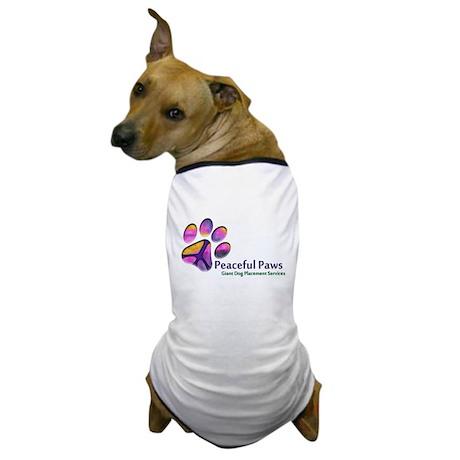 Peaceful Paws Rescue Logo Dog T-Shirt