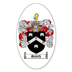 Smith Coat of Arms Oval Decal