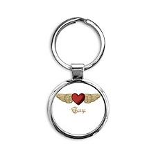 Tanya the Angel Round Keychain