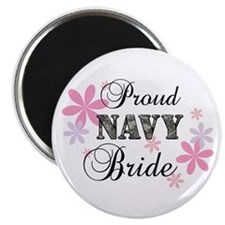 Navy Bride [fl camo] Magnet