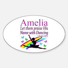 BEST DANCER Sticker (Oval)