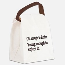 Old enough to Retire Canvas Lunch Bag