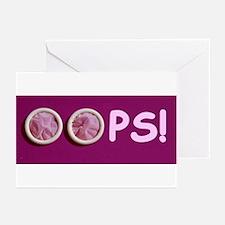 OOPS! unplanned pregnancy Greeting Cards (Pk of 10