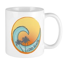 Long Beach Sunset Crest Mug