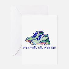 Walk, Eat, Talk Greeting Cards