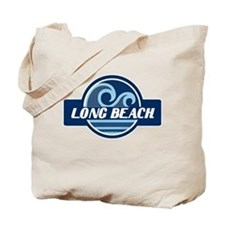 Long Beach Blue Wave Badge Tote Bag