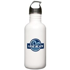 Long Beach Blue Wave Badge Water Bottle