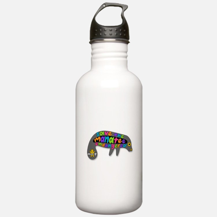 save the manatee Water Bottle