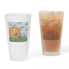 Pumpkin Patch Drinking Glass