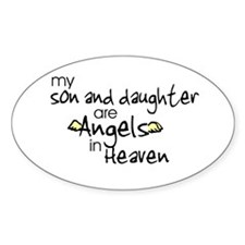Son/Daughter Angels Oval Decal