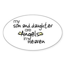 Son/Daughter Angels Oval Stickers