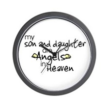 Son/Daughter Angels Wall Clock