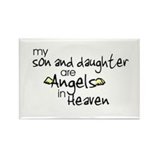 Son/Daughter Angels Rectangle Magnet