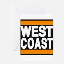 west coast orange Greeting Card