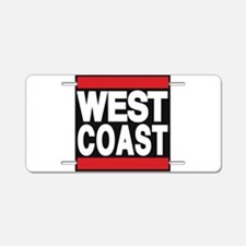 west coast red Aluminum License Plate