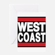 west coast red Greeting Card