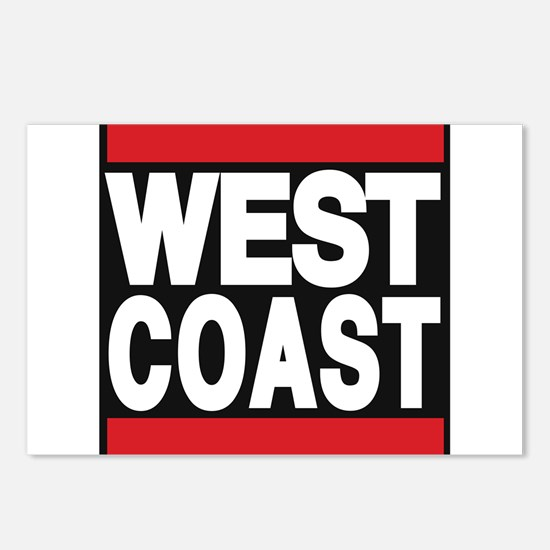 west coast red Postcards (Package of 8)