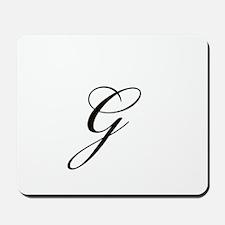 Bickham Script Monogram G Mousepad