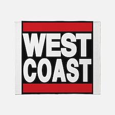 west coast red Throw Blanket